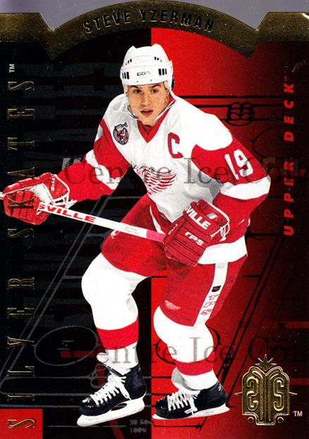 1993-94 Upper Deck Silver Skates Retail Gold #6 Steve Yzerman<br/>3 In Stock - $5.00 each - <a href=https://centericecollectibles.foxycart.com/cart?name=1993-94%20Upper%20Deck%20Silver%20Skates%20Retail%20Gold%20%236%20Steve%20Yzerman...&price=$5.00&code=327247 class=foxycart> Buy it now! </a>