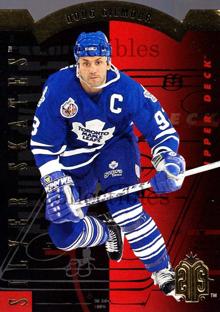1993-94 Upper Deck Silver Skates Retail Gold #7 Doug Gilmour<br/>8 In Stock - $3.00 each - <a href=https://centericecollectibles.foxycart.com/cart?name=1993-94%20Upper%20Deck%20Silver%20Skates%20Retail%20Gold%20%237%20Doug%20Gilmour...&quantity_max=8&price=$3.00&code=327248 class=foxycart> Buy it now! </a>