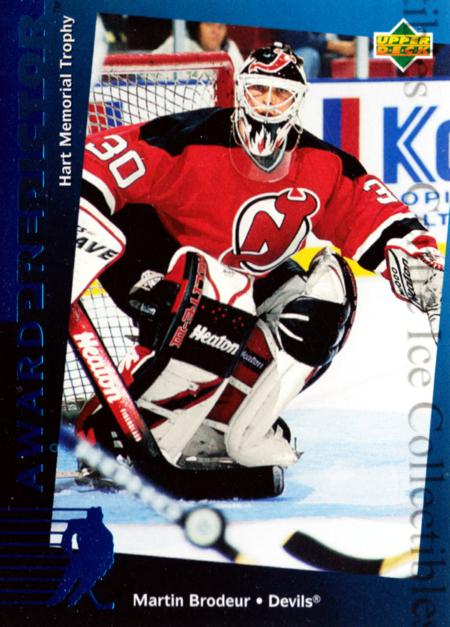 1994-95 Upper Deck Predictor Hobby #12 Martin Brodeur<br/>12 In Stock - $3.00 each - <a href=https://centericecollectibles.foxycart.com/cart?name=1994-95%20Upper%20Deck%20Predictor%20Hobby%20%2312%20Martin%20Brodeur...&price=$3.00&code=327366 class=foxycart> Buy it now! </a>