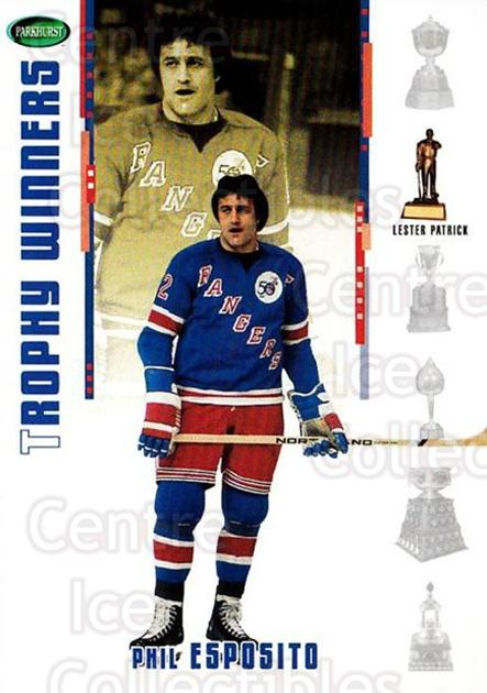 2003-04 Parkhurst Original Six New York Rangers Inserts #5 Phil Esposito<br/>1 In Stock - $3.00 each - <a href=https://centericecollectibles.foxycart.com/cart?name=2003-04%20Parkhurst%20Original%20Six%20New%20York%20Rangers%20Inserts%20%235%20Phil%20Esposito...&quantity_max=1&price=$3.00&code=327425 class=foxycart> Buy it now! </a>