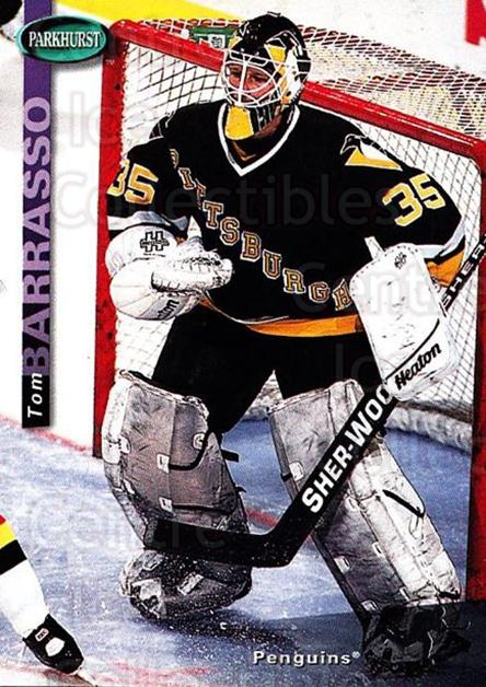 1994-95 Parkhurst #182 Tom Barrasso<br/>3 In Stock - $1.00 each - <a href=https://centericecollectibles.foxycart.com/cart?name=1994-95%20Parkhurst%20%23182%20Tom%20Barrasso...&quantity_max=3&price=$1.00&code=32749 class=foxycart> Buy it now! </a>