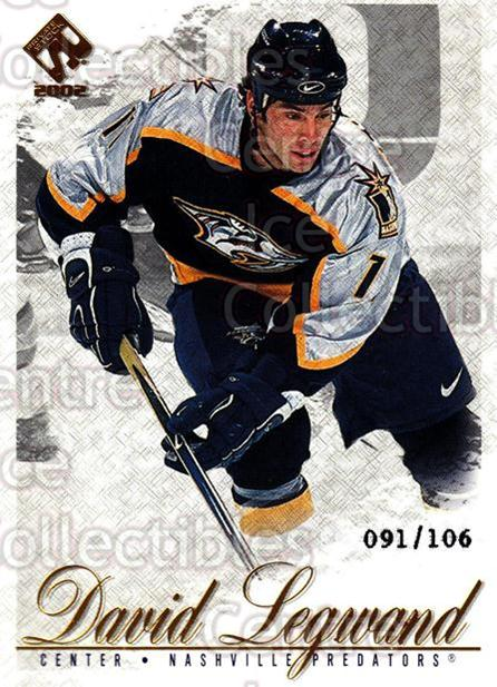 2001-02 Private Stock Gold #53 David Legwand<br/>1 In Stock - $5.00 each - <a href=https://centericecollectibles.foxycart.com/cart?name=2001-02%20Private%20Stock%20Gold%20%2353%20David%20Legwand...&quantity_max=1&price=$5.00&code=327830 class=foxycart> Buy it now! </a>