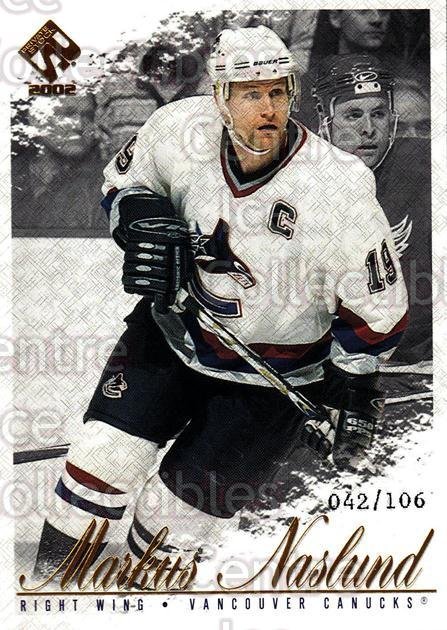 2001-02 Private Stock Gold #94 Markus Naslund<br/>1 In Stock - $5.00 each - <a href=https://centericecollectibles.foxycart.com/cart?name=2001-02%20Private%20Stock%20Gold%20%2394%20Markus%20Naslund...&quantity_max=1&price=$5.00&code=327872 class=foxycart> Buy it now! </a>