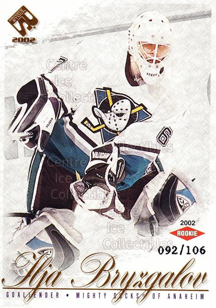 2001-02 Private Stock Gold #111 Ilya Bryzgalov<br/>2 In Stock - $5.00 each - <a href=https://centericecollectibles.foxycart.com/cart?name=2001-02%20Private%20Stock%20Gold%20%23111%20Ilya%20Bryzgalov...&quantity_max=2&price=$5.00&code=327898 class=foxycart> Buy it now! </a>