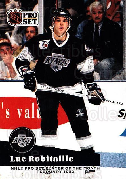 1991-92 Pro Set Player of the Month #6 Luc Robitaille<br/>3 In Stock - $20.00 each - <a href=https://centericecollectibles.foxycart.com/cart?name=1991-92%20Pro%20Set%20Player%20of%20the%20Month%20%236%20Luc%20Robitaille...&quantity_max=3&price=$20.00&code=328279 class=foxycart> Buy it now! </a>