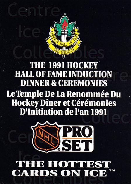 1991 Pro Set Hall of Fame Induction Ceremonies #14 Header Card<br/>1 In Stock - $5.00 each - <a href=https://centericecollectibles.foxycart.com/cart?name=1991%20Pro%20Set%20Hall%20of%20Fame%20Induction%20Ceremonies%20%2314%20Header%20Card...&price=$5.00&code=328293 class=foxycart> Buy it now! </a>