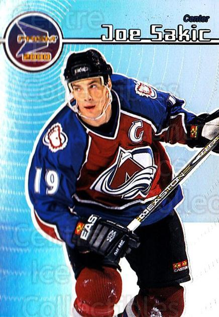 1999-00 Pacific Prism #41 Joe Sakic<br/>1 In Stock - $2.00 each - <a href=https://centericecollectibles.foxycart.com/cart?name=1999-00%20Pacific%20Prism%20%2341%20Joe%20Sakic...&quantity_max=1&price=$2.00&code=328326 class=foxycart> Buy it now! </a>