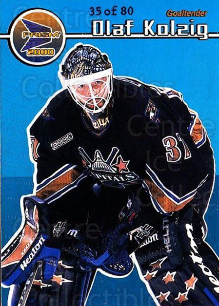 1999-00 Prism Holographic Blue #148 Olaf Kolzig<br/>1 In Stock - $10.00 each - <a href=https://centericecollectibles.foxycart.com/cart?name=1999-00%20Prism%20Holographic%20Blue%20%23148%20Olaf%20Kolzig...&quantity_max=1&price=$10.00&code=328384 class=foxycart> Buy it now! </a>