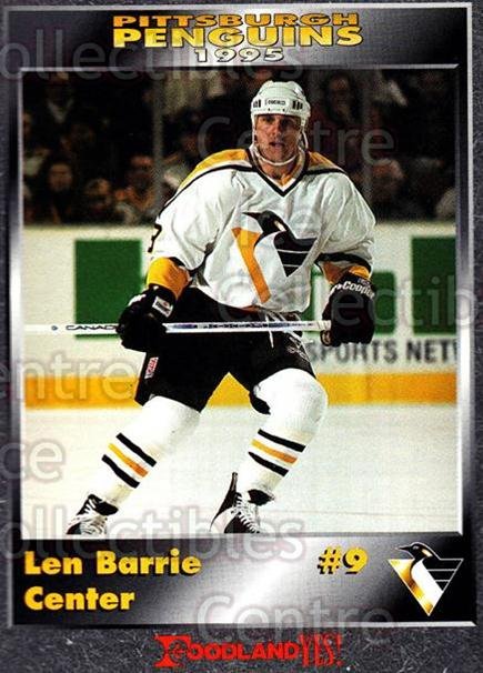1994-95 Pittsburgh Penguins Foodland #4 Len Barrie<br/>2 In Stock - $3.00 each - <a href=https://centericecollectibles.foxycart.com/cart?name=1994-95%20Pittsburgh%20Penguins%20Foodland%20%234%20Len%20Barrie...&quantity_max=2&price=$3.00&code=32841 class=foxycart> Buy it now! </a>