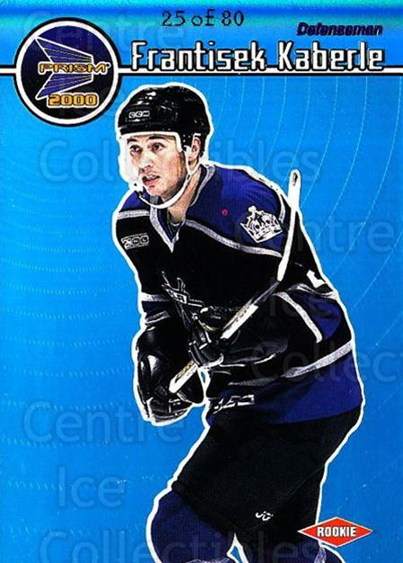 1999-00 Prism Holographic Blue #67 Frantisek Kaberle<br/>1 In Stock - $10.00 each - <a href=https://centericecollectibles.foxycart.com/cart?name=1999-00%20Prism%20Holographic%20Blue%20%2367%20Frantisek%20Kaber...&quantity_max=1&price=$10.00&code=328439 class=foxycart> Buy it now! </a>