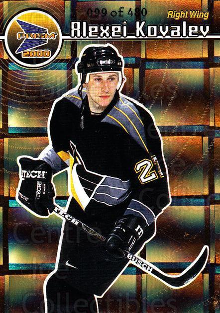 1999-00 Prism Holographic Gold #115 Alexei Kovalev<br/>1 In Stock - $3.00 each - <a href=https://centericecollectibles.foxycart.com/cart?name=1999-00%20Prism%20Holographic%20Gold%20%23115%20Alexei%20Kovalev...&quantity_max=1&price=$3.00&code=328502 class=foxycart> Buy it now! </a>
