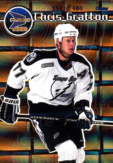 1999-00 Prism Holographic Gold #131 Chris Gratton<br/>6 In Stock - $3.00 each - <a href=https://centericecollectibles.foxycart.com/cart?name=1999-00%20Prism%20Holographic%20Gold%20%23131%20Chris%20Gratton...&quantity_max=6&price=$3.00&code=328518 class=foxycart> Buy it now! </a>