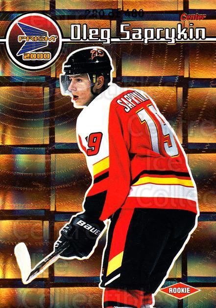 1999-00 Prism Holographic Gold #25 Oleg Saprykin<br/>2 In Stock - $3.00 each - <a href=https://centericecollectibles.foxycart.com/cart?name=1999-00%20Prism%20Holographic%20Gold%20%2325%20Oleg%20Saprykin...&quantity_max=2&price=$3.00&code=328546 class=foxycart> Buy it now! </a>