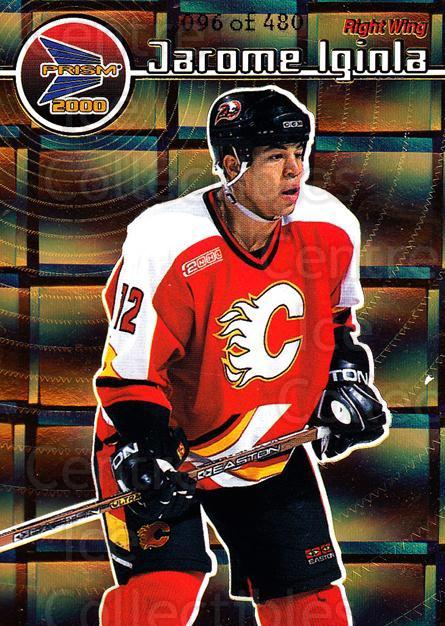 1999-00 Pacific Prism Holographic Gold #24 Jarome Iginla<br/>2 In Stock - $3.00 each - <a href=https://centericecollectibles.foxycart.com/cart?name=1999-00%20Pacific%20Prism%20Holographic%20Gold%20%2324%20Jarome%20Iginla...&quantity_max=2&price=$3.00&code=328624 class=foxycart> Buy it now! </a>