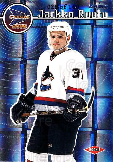 1999-00 Prism Holographic Mirror #144 Jarkko Ruutu<br/>1 In Stock - $3.00 each - <a href=https://centericecollectibles.foxycart.com/cart?name=1999-00%20Prism%20Holographic%20Mirror%20%23144%20Jarkko%20Ruutu...&quantity_max=1&price=$3.00&code=328680 class=foxycart> Buy it now! </a>