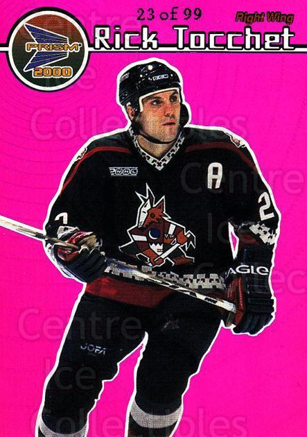 1999-00 Prism Holographic Purple #111 Rick Tocchet<br/>2 In Stock - $5.00 each - <a href=https://centericecollectibles.foxycart.com/cart?name=1999-00%20Prism%20Holographic%20Purple%20%23111%20Rick%20Tocchet...&quantity_max=2&price=$5.00&code=328860 class=foxycart> Buy it now! </a>
