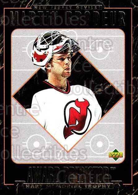 1995-96 Upper Deck Predictor Hobby Redeemed #5 Martin Brodeur<br/>4 In Stock - $3.00 each - <a href=https://centericecollectibles.foxycart.com/cart?name=1995-96%20Upper%20Deck%20Predictor%20Hobby%20Redeemed%20%235%20Martin%20Brodeur...&price=$3.00&code=329088 class=foxycart> Buy it now! </a>