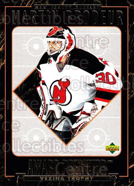 1995-96 Upper Deck Predictor Hobby Redeemed #11 Martin Brodeur<br/>3 In Stock - $3.00 each - <a href=https://centericecollectibles.foxycart.com/cart?name=1995-96%20Upper%20Deck%20Predictor%20Hobby%20Redeemed%20%2311%20Martin%20Brodeur...&price=$3.00&code=329093 class=foxycart> Buy it now! </a>