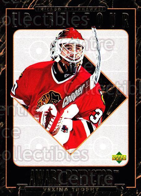 1995-96 Upper Deck Predictor Hobby Redeemed #18 Ed Belfour<br/>2 In Stock - $3.00 each - <a href=https://centericecollectibles.foxycart.com/cart?name=1995-96%20Upper%20Deck%20Predictor%20Hobby%20Redeemed%20%2318%20Ed%20Belfour...&price=$3.00&code=329099 class=foxycart> Buy it now! </a>