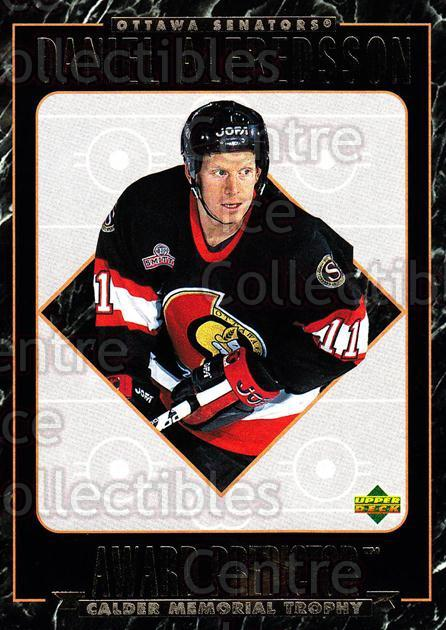 1995-96 Upper Deck Predictor Hobby Redeemed #HR23 Daniel Alfredsson<br/>5 In Stock - $3.00 each - <a href=https://centericecollectibles.foxycart.com/cart?name=1995-96%20Upper%20Deck%20Predictor%20Hobby%20Redeemed%20%23HR23%20Daniel%20Alfredss...&quantity_max=5&price=$3.00&code=329104 class=foxycart> Buy it now! </a>