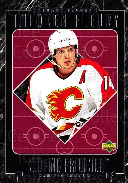 1995-96 Upper Deck Predictor Retail #R08 Theo Fleury<br/>1 In Stock - $3.00 each - <a href=https://centericecollectibles.foxycart.com/cart?name=1995-96%20Upper%20Deck%20Predictor%20Retail%20%23R08%20Theo%20Fleury...&quantity_max=1&price=$3.00&code=329150 class=foxycart> Buy it now! </a>