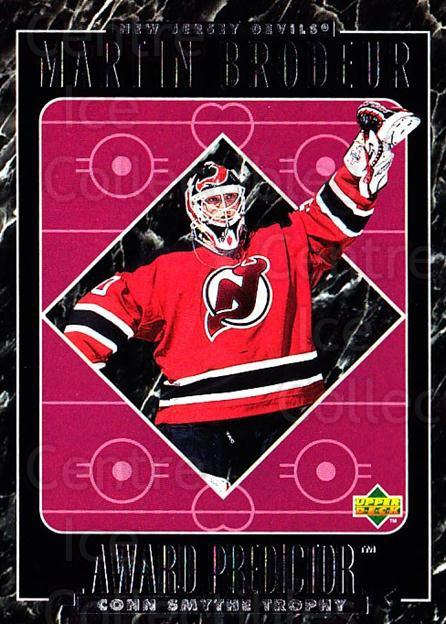 1995-96 Upper Deck Predictor Retail #57 Martin Brodeur<br/>3 In Stock - $5.00 each - <a href=https://centericecollectibles.foxycart.com/cart?name=1995-96%20Upper%20Deck%20Predictor%20Retail%20%2357%20Martin%20Brodeur...&price=$5.00&code=329168 class=foxycart> Buy it now! </a>