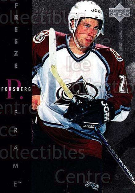 1995-96 Upper Deck Freeze Frame #1 Peter Forsberg<br/>1 In Stock - $5.00 each - <a href=https://centericecollectibles.foxycart.com/cart?name=1995-96%20Upper%20Deck%20Freeze%20Frame%20%231%20Peter%20Forsberg...&quantity_max=1&price=$5.00&code=329184 class=foxycart> Buy it now! </a>