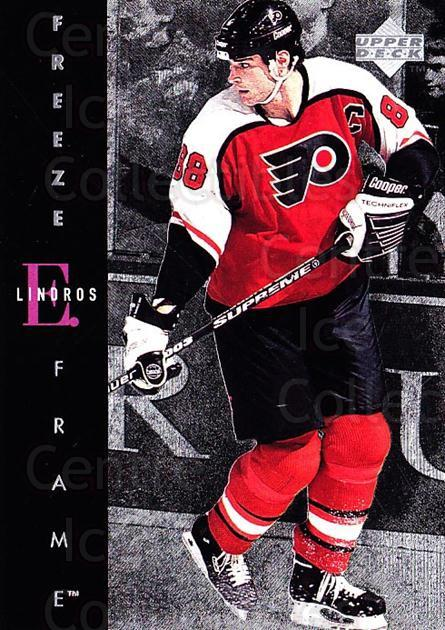 1995-96 Upper Deck Freeze Frame Jumbo #3 Eric Lindros<br/>1 In Stock - $5.00 each - <a href=https://centericecollectibles.foxycart.com/cart?name=1995-96%20Upper%20Deck%20Freeze%20Frame%20Jumbo%20%233%20Eric%20Lindros...&quantity_max=1&price=$5.00&code=329194 class=foxycart> Buy it now! </a>