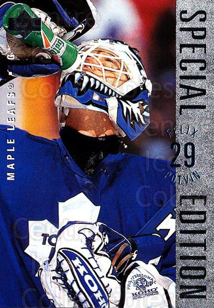 1995-96 Upper Deck Special Edition #168 Felix Potvin<br/>1 In Stock - $1.00 each - <a href=https://centericecollectibles.foxycart.com/cart?name=1995-96%20Upper%20Deck%20Special%20Edition%20%23168%20Felix%20Potvin...&quantity_max=1&price=$1.00&code=329255 class=foxycart> Buy it now! </a>