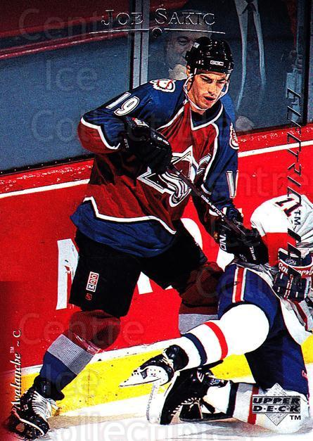 1995-96 Upper Deck Electric Ice #54 Joe Sakic<br/>1 In Stock - $2.00 each - <a href=https://centericecollectibles.foxycart.com/cart?name=1995-96%20Upper%20Deck%20Electric%20Ice%20%2354%20Joe%20Sakic...&quantity_max=1&price=$2.00&code=329463 class=foxycart> Buy it now! </a>