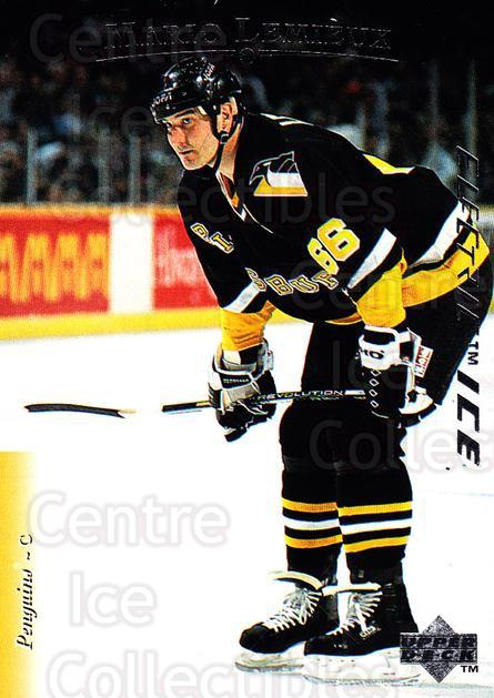 1995-96 Upper Deck Electric Ice #84 Mario Lemieux<br/>3 In Stock - $5.00 each - <a href=https://centericecollectibles.foxycart.com/cart?name=1995-96%20Upper%20Deck%20Electric%20Ice%20%2384%20Mario%20Lemieux...&quantity_max=3&price=$5.00&code=329465 class=foxycart> Buy it now! </a>