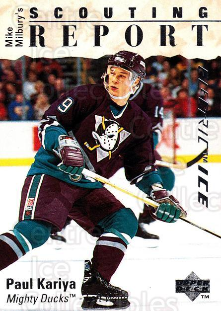 1995-96 Upper Deck Electric Ice #245 Paul Kariya<br/>3 In Stock - $2.00 each - <a href=https://centericecollectibles.foxycart.com/cart?name=1995-96%20Upper%20Deck%20Electric%20Ice%20%23245%20Paul%20Kariya...&quantity_max=3&price=$2.00&code=329485 class=foxycart> Buy it now! </a>