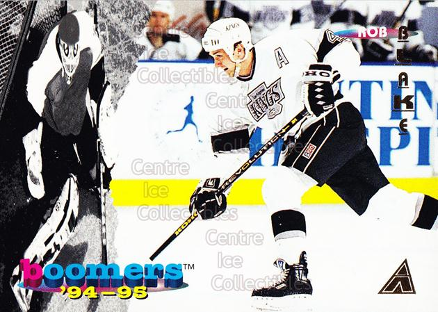 1994-95 Pinnacle Boomers #10 Rob Blake<br/>9 In Stock - $3.00 each - <a href=https://centericecollectibles.foxycart.com/cart?name=1994-95%20Pinnacle%20Boomers%20%2310%20Rob%20Blake...&quantity_max=9&price=$3.00&code=32958 class=foxycart> Buy it now! </a>