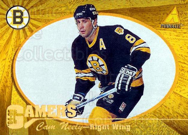 1994-95 Pinnacle Gamers #17 Cam Neely<br/>1 In Stock - $5.00 each - <a href=https://centericecollectibles.foxycart.com/cart?name=1994-95%20Pinnacle%20Gamers%20%2317%20Cam%20Neely...&quantity_max=1&price=$5.00&code=32976 class=foxycart> Buy it now! </a>