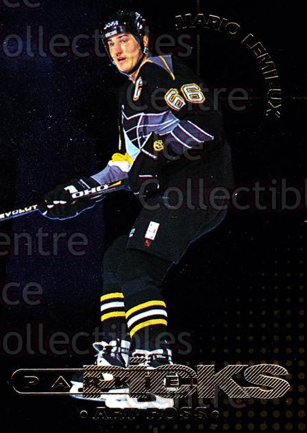 1995-96 Parkhurst Parkie Trophy Picks #11 Mario Lemieux, Art Ross Trophy<br/>2 In Stock - $10.00 each - <a href=https://centericecollectibles.foxycart.com/cart?name=1995-96%20Parkhurst%20Parkie%20Trophy%20Picks%20%2311%20Mario%20Lemieux,%20...&price=$10.00&code=330101 class=foxycart> Buy it now! </a>