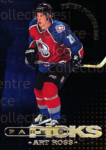 1995-96 Parkhurst Parkie Trophy Picks #13 Peter Forsberg, Art Ross Trophy<br/>2 In Stock - $5.00 each - <a href=https://centericecollectibles.foxycart.com/cart?name=1995-96%20Parkhurst%20Parkie%20Trophy%20Picks%20%2313%20Peter%20Forsberg,...&price=$5.00&code=330103 class=foxycart> Buy it now! </a>