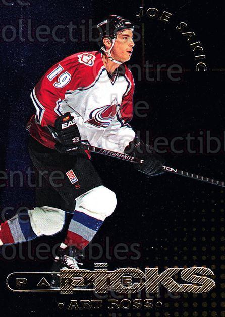 1995-96 Parkhurst Parkie Trophy Picks #16 Joe Sakic, Art Ross Trophy<br/>1 In Stock - $5.00 each - <a href=https://centericecollectibles.foxycart.com/cart?name=1995-96%20Parkhurst%20Parkie%20Trophy%20Picks%20%2316%20Joe%20Sakic,%20Art%20...&price=$5.00&code=330106 class=foxycart> Buy it now! </a>