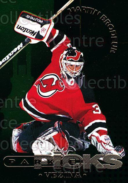1995-96 Parkhurst Parkie Trophy Picks #32 Martin Brodeur, Vezina Trophy<br/>1 In Stock - $10.00 each - <a href=https://centericecollectibles.foxycart.com/cart?name=1995-96%20Parkhurst%20Parkie%20Trophy%20Picks%20%2332%20Martin%20Brodeur,...&price=$10.00&code=330122 class=foxycart> Buy it now! </a>