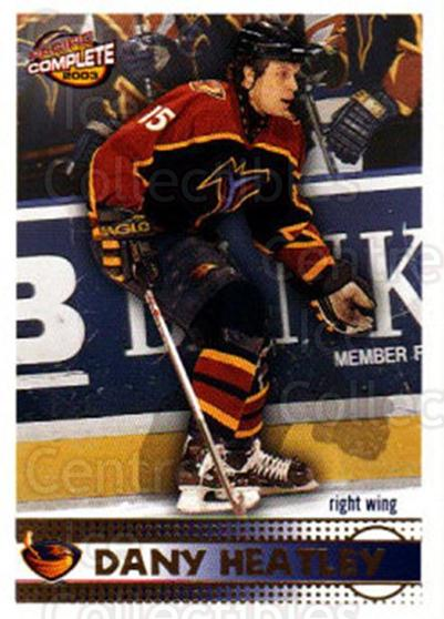 2002-03 Pacific Complete #15 Dany Heatley<br/>3 In Stock - $2.00 each - <a href=https://centericecollectibles.foxycart.com/cart?name=2002-03%20Pacific%20Complete%20%2315%20Dany%20Heatley...&quantity_max=3&price=$2.00&code=330702 class=foxycart> Buy it now! </a>