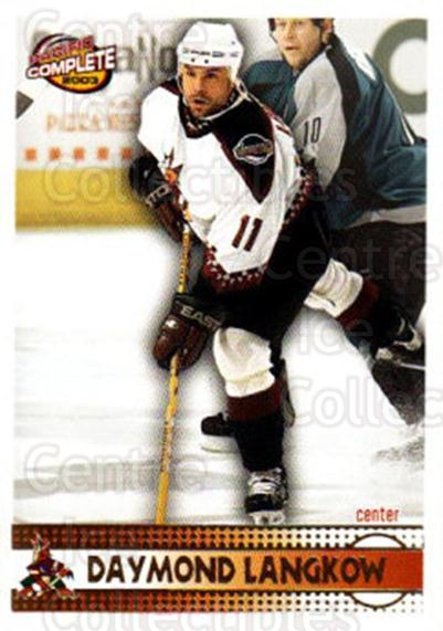 2002-03 Pacific Complete #22 Daymond Langkow<br/>1 In Stock - $2.00 each - <a href=https://centericecollectibles.foxycart.com/cart?name=2002-03%20Pacific%20Complete%20%2322%20Daymond%20Langkow...&quantity_max=1&price=$2.00&code=330709 class=foxycart> Buy it now! </a>