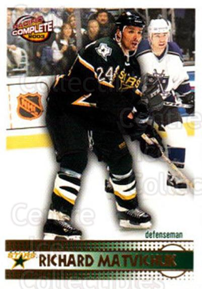 2002-03 Pacific Complete #97 Richard Matvichuk<br/>3 In Stock - $2.00 each - <a href=https://centericecollectibles.foxycart.com/cart?name=2002-03%20Pacific%20Complete%20%2397%20Richard%20Matvich...&quantity_max=3&price=$2.00&code=330784 class=foxycart> Buy it now! </a>