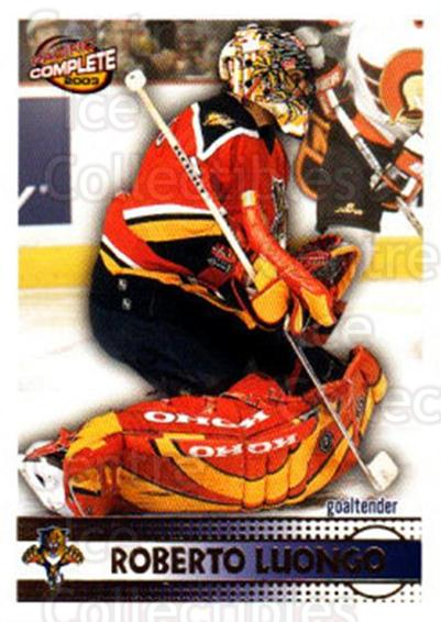 2002-03 Pacific Complete #128 Roberto Luongo<br/>3 In Stock - $2.00 each - <a href=https://centericecollectibles.foxycart.com/cart?name=2002-03%20Pacific%20Complete%20%23128%20Roberto%20Luongo...&quantity_max=3&price=$2.00&code=330815 class=foxycart> Buy it now! </a>