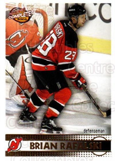 2002-03 Pacific Complete #204 Brian Rafalski<br/>3 In Stock - $2.00 each - <a href=https://centericecollectibles.foxycart.com/cart?name=2002-03%20Pacific%20Complete%20%23204%20Brian%20Rafalski...&quantity_max=3&price=$2.00&code=330891 class=foxycart> Buy it now! </a>