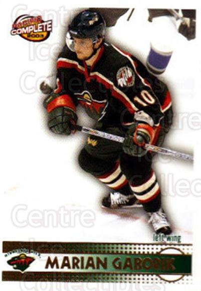 2002-03 Pacific Complete #206 Marian Gaborik<br/>1 In Stock - $2.00 each - <a href=https://centericecollectibles.foxycart.com/cart?name=2002-03%20Pacific%20Complete%20%23206%20Marian%20Gaborik...&quantity_max=1&price=$2.00&code=330893 class=foxycart> Buy it now! </a>