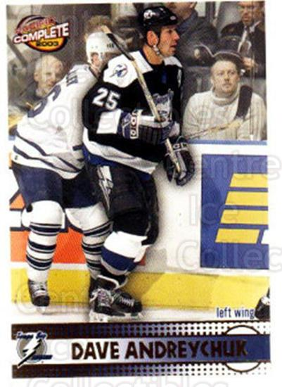 2002-03 Pacific Complete #264 Dave Andreychuk<br/>4 In Stock - $2.00 each - <a href=https://centericecollectibles.foxycart.com/cart?name=2002-03%20Pacific%20Complete%20%23264%20Dave%20Andreychuk...&quantity_max=4&price=$2.00&code=330951 class=foxycart> Buy it now! </a>