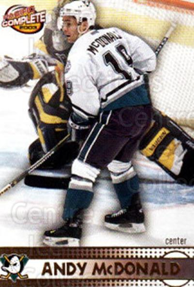 2002-03 Pacific Complete #272 Andy McDonald<br/>4 In Stock - $2.00 each - <a href=https://centericecollectibles.foxycart.com/cart?name=2002-03%20Pacific%20Complete%20%23272%20Andy%20McDonald...&quantity_max=4&price=$2.00&code=330959 class=foxycart> Buy it now! </a>