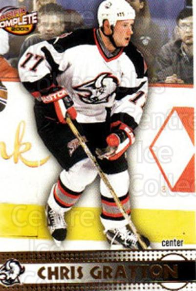 2002-03 Pacific Complete #284 Chris Gratton<br/>4 In Stock - $2.00 each - <a href=https://centericecollectibles.foxycart.com/cart?name=2002-03%20Pacific%20Complete%20%23284%20Chris%20Gratton...&quantity_max=4&price=$2.00&code=330971 class=foxycart> Buy it now! </a>