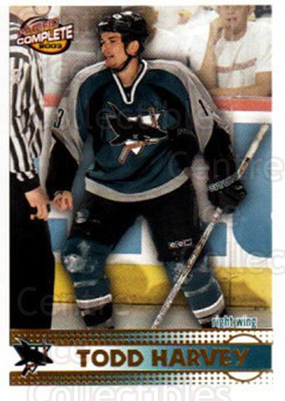 2002-03 Pacific Complete #382 Todd Harvey<br/>2 In Stock - $2.00 each - <a href=https://centericecollectibles.foxycart.com/cart?name=2002-03%20Pacific%20Complete%20%23382%20Todd%20Harvey...&quantity_max=2&price=$2.00&code=331069 class=foxycart> Buy it now! </a>