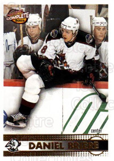 2002-03 Pacific Complete #406 Daniel Briere<br/>2 In Stock - $2.00 each - <a href=https://centericecollectibles.foxycart.com/cart?name=2002-03%20Pacific%20Complete%20%23406%20Daniel%20Briere...&quantity_max=2&price=$2.00&code=331093 class=foxycart> Buy it now! </a>