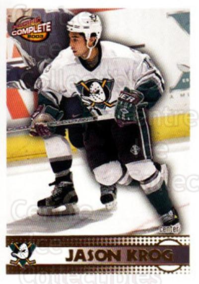 2002-03 Pacific Complete #415 Jason Krog<br/>1 In Stock - $2.00 each - <a href=https://centericecollectibles.foxycart.com/cart?name=2002-03%20Pacific%20Complete%20%23415%20Jason%20Krog...&quantity_max=1&price=$2.00&code=331102 class=foxycart> Buy it now! </a>